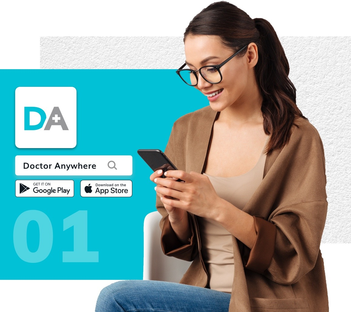 Book a mental wellness appointment through the Doctor Anywhere app