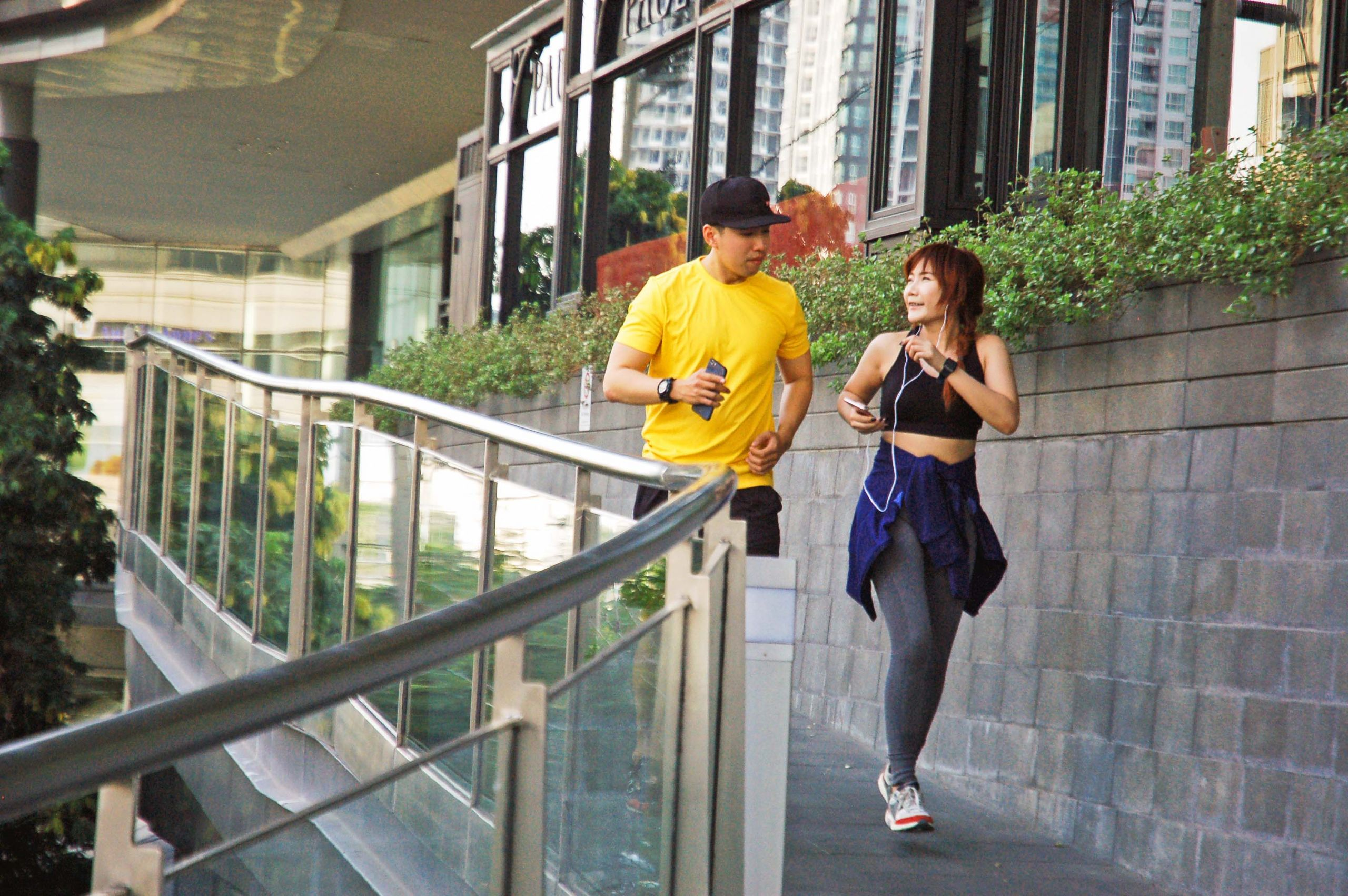 Get some fresh air while getting in a good workout, it's a win-win.