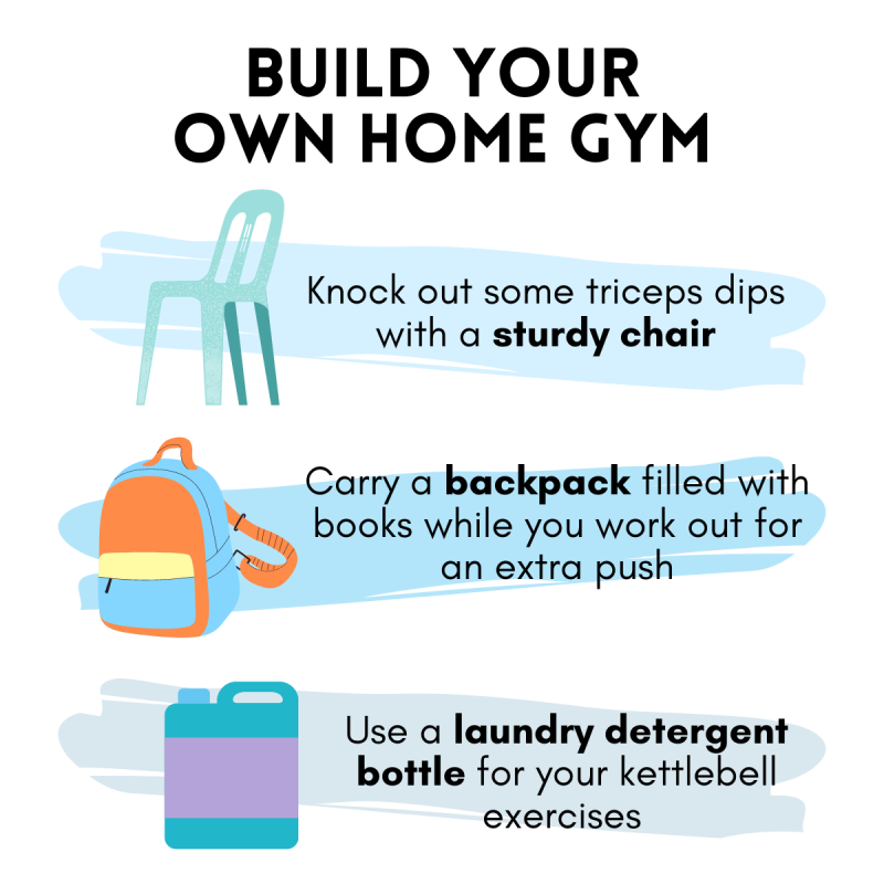Tips on how to build your own home gym with ordinary household items