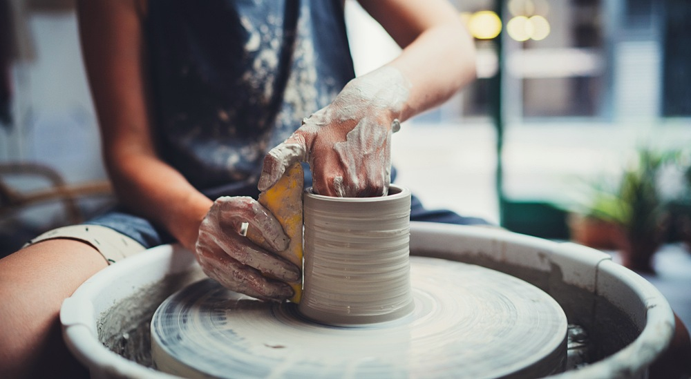 Working with your hands can be a fun and also calming activity.