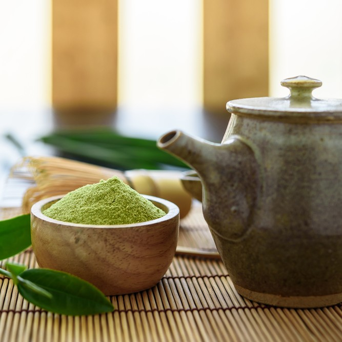 Matcha has plenty of health benefits, and also makes a delicious drink.