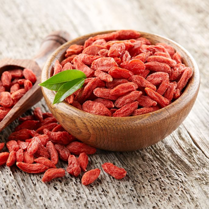 Goji berries have anti-ageing properties, and are also easy to include in many recipes.