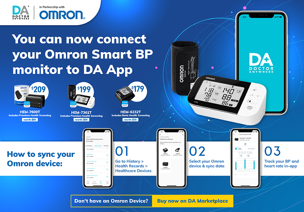 Integrate your Omron device with the Doctor Anywhere app