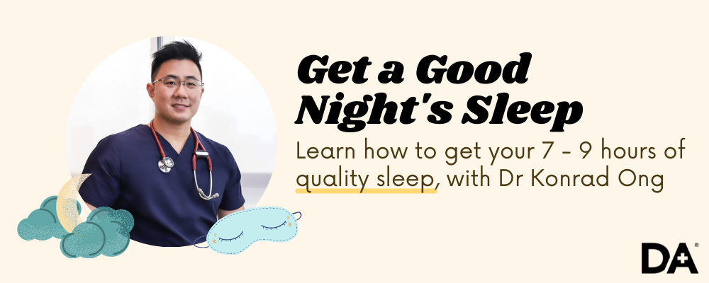 Learn how to get 7 - 9 hours of quality sleep with Dr Konrad