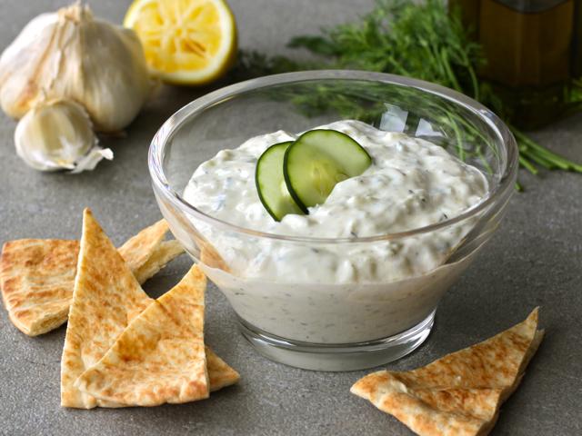 Greek yoghurt dip is a healthier alternative to heavier cream-laden dips.