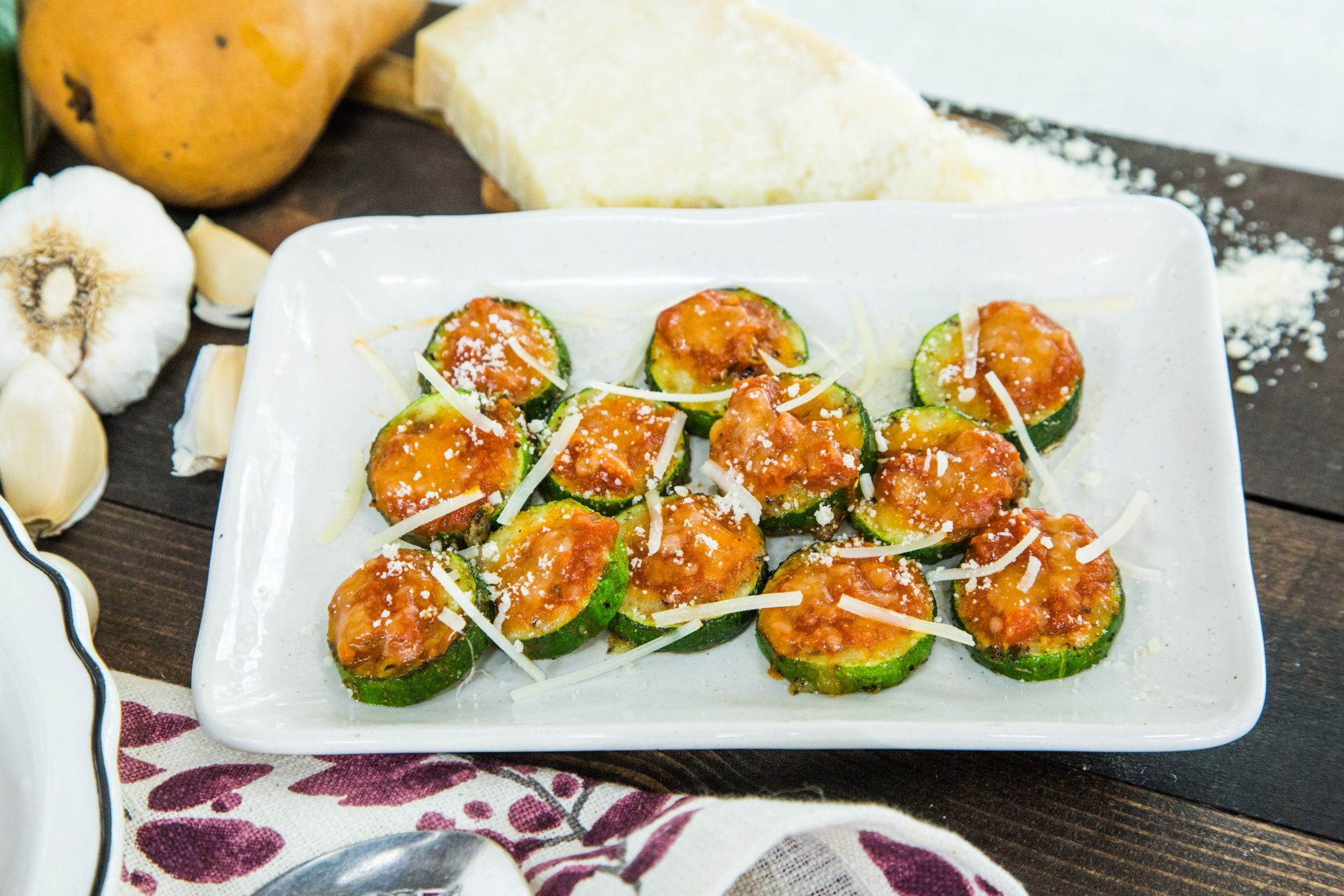 Zucchini bites are delicious healthier snacks to try