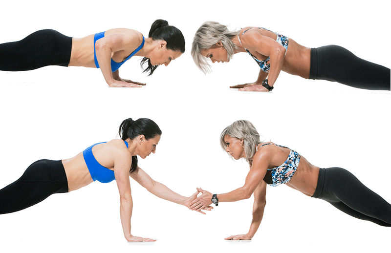 Add some fun into your push-ups with some high-fives