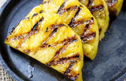 Grilled pineapples can be a good alternative for pineapple tarts.