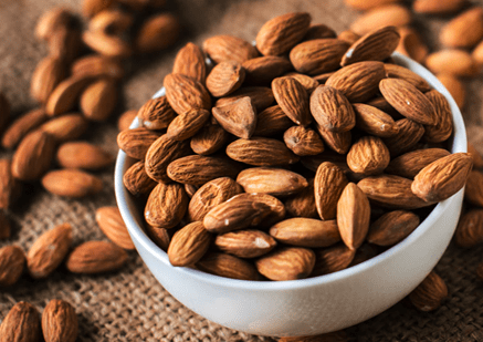 Almonds are delicious and healthy chinese new year snack alternative.