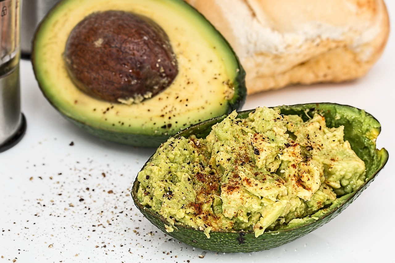 Avocado contains healthy fats, which can help improve your health.