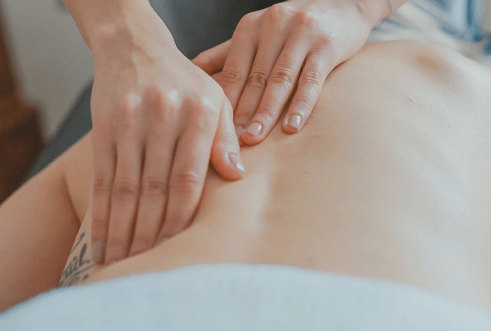 A massage may help to stop some menstrual pains.