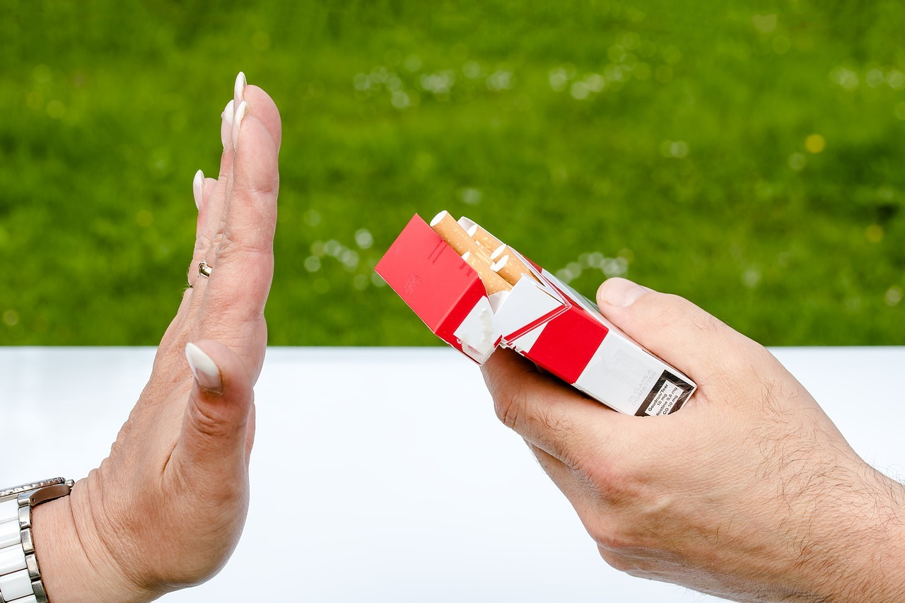 Avoid staining your teeth by not smoking.