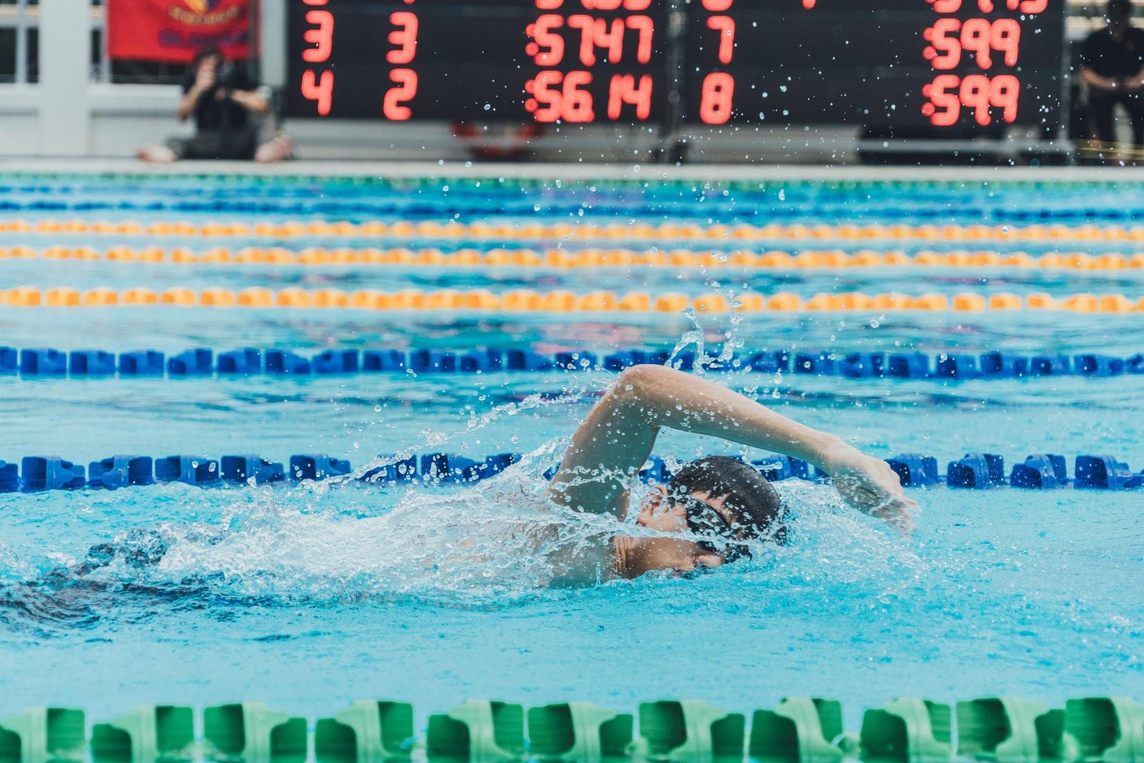 Swimming is a great low-impact exercise for persons with joint problems.