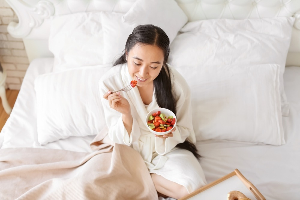 Eating in the bedroom may attract unwanted visitors.