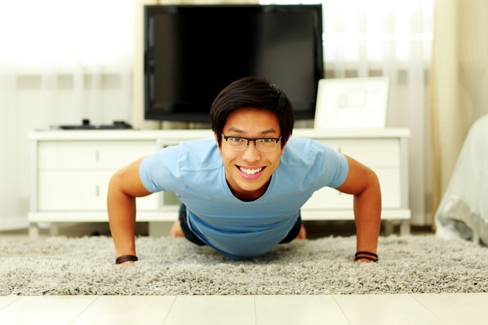 Try completing 20 push-ups within 60 seconds.
