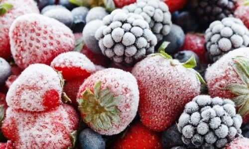Frozen fruits are easy to prepare and delicious in the hot weather