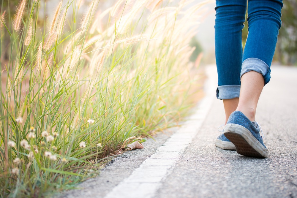 Going for walks can help to control your food cravings.