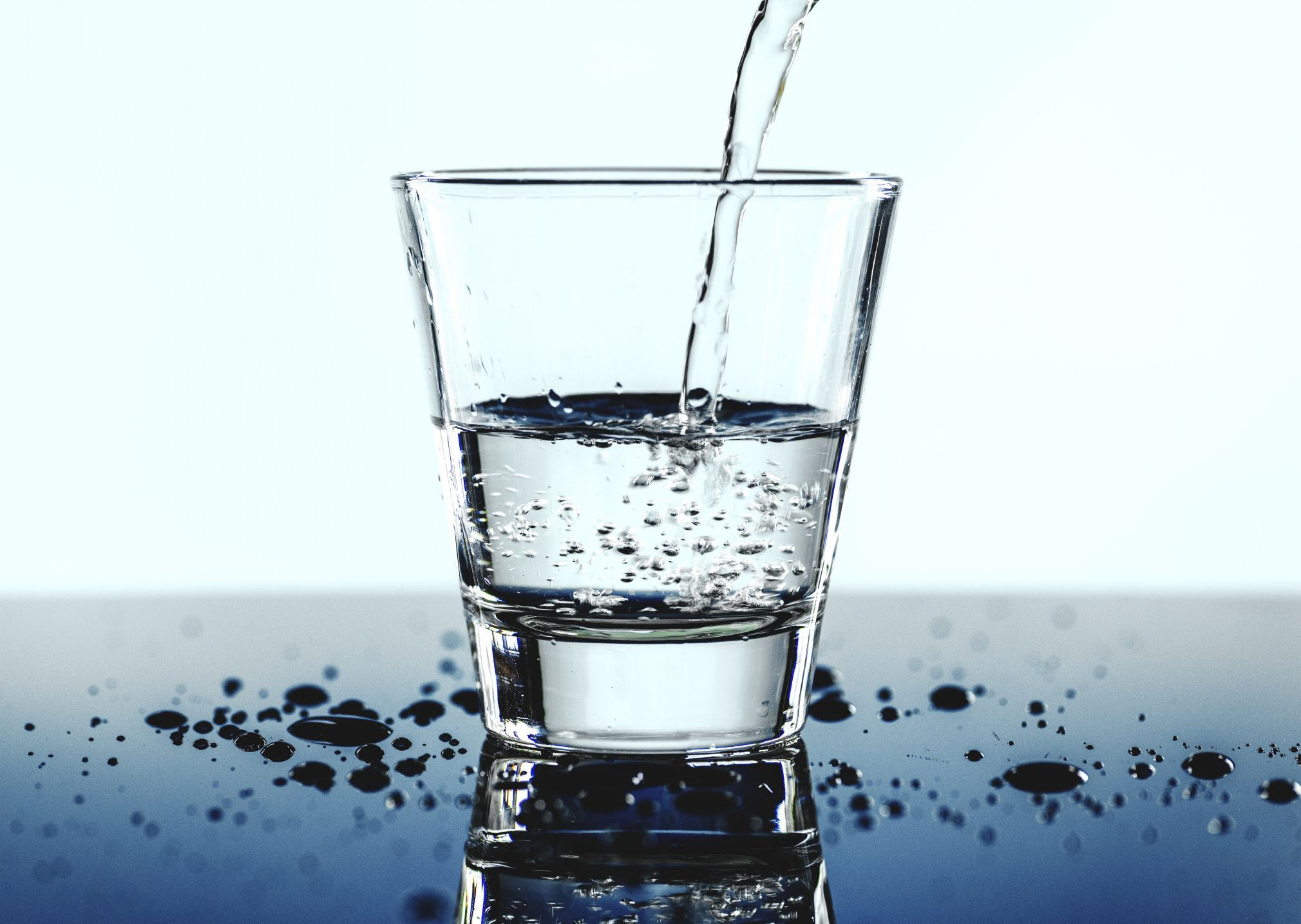 Make sure you get enough water, by drinking 8 glasses of water every day.