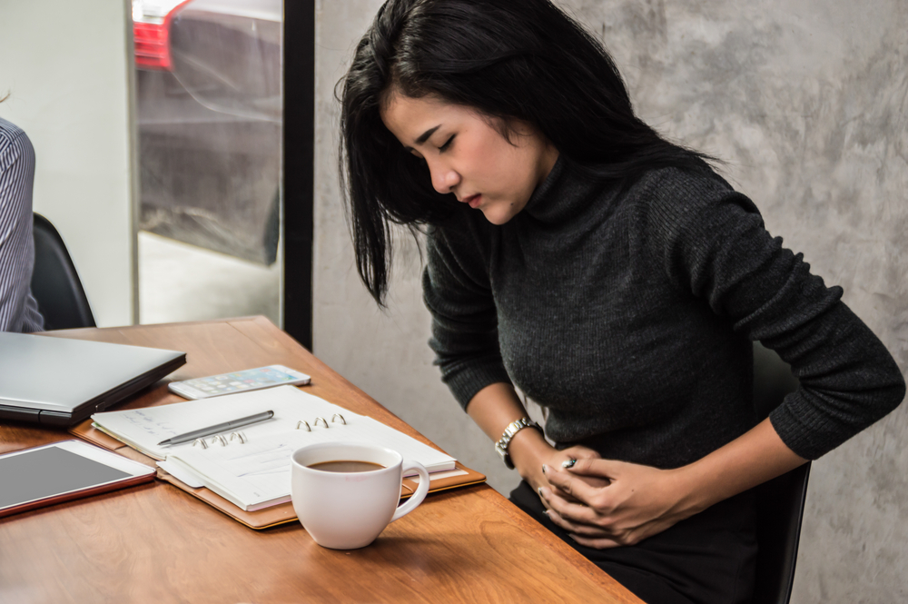 Stress may cause digestive problems.