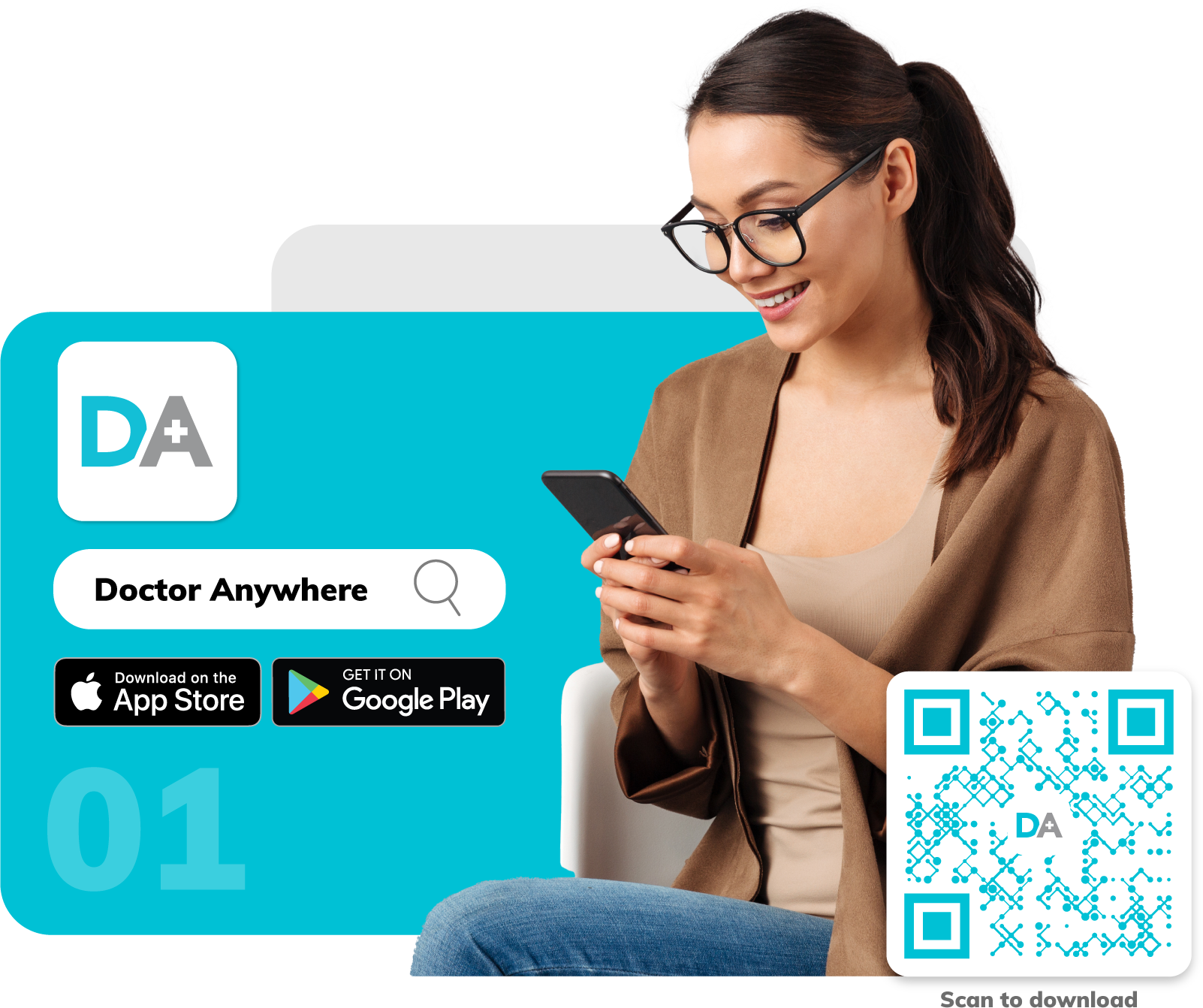 Download Doctor Anywhere from the App Store or Google Play, and sign up with your email, Facebook, or Google ID.
